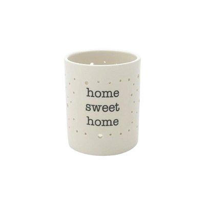 Castiçal Porcelana Home Sweet