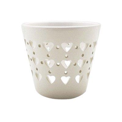 Castiçal Porcelana Hearts