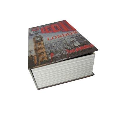 Livro cofre em madeira P London
