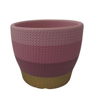 Vaso de Cerâmica dec02225/6 azul/rosa P