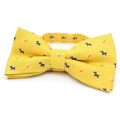 Gravata Borboleta Amarela Little Dogs