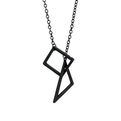 Colar Triângulo e Quadrado