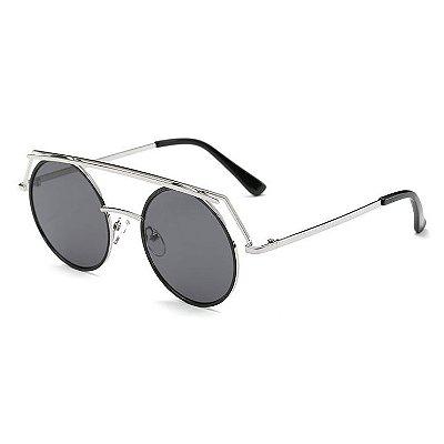 Óculos Escuro Redondo Steampunk