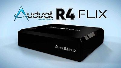 RECEPTOR AUDISAT R4 FLIX 4K IPTVCONEXÃO COM A INTERNET PARA FUNCIONAR, VIA WI FI OU A CABO