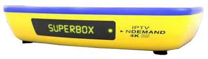 Receptor Superbox Prime ITV 4K - Iptv ondemand (SKS, IKS, WIFI, ACM, H265 E MULTIMIDIA)