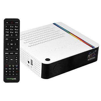 Receptor FTA Tocomlink Festa HD 4K H.265 com Porta Ethernet/USB 2.0