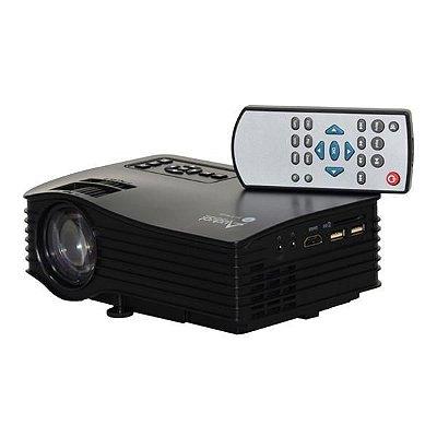 Projetor Audisat PJ-035 Wi Fi de 30 ANSI Lumens 1080p/HDMI/USB/SD/Bivolt - Preto