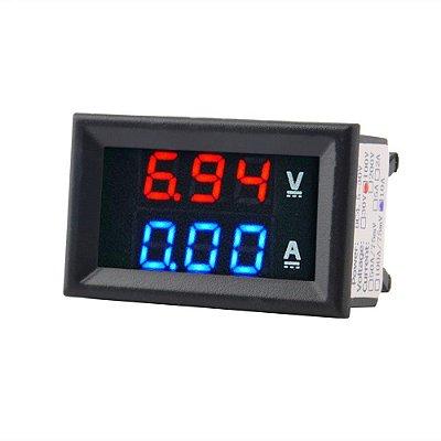 Voltímetro Amperímetro 0-100v 10a Dual Display + Conectores