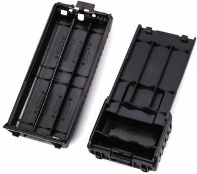 case pack para pilha aa de baofeng uv-5r uv-5ra uv-5rb uv-5rc uv-5re dm-5r plus gt3 dmr rd-5r