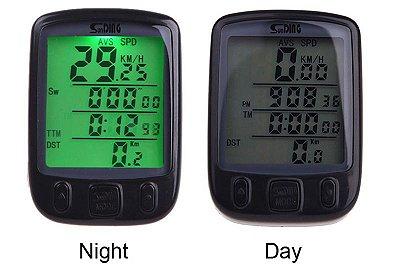 velocímetro bike sunding sd 563b luz noturna brinde bateria 2032 extra manual em portugues