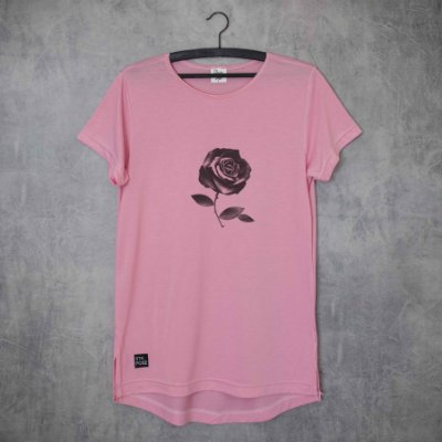 BLACK ROSE - LONG TEE