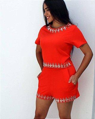 Conjunto Luxo Vermelho