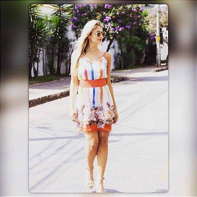 Vestido Barrado Floral