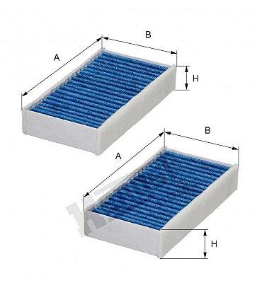 Filtro Ar Condicionado Bmw X3-f25 X4-f26 Hengst 64119237159