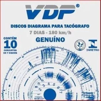 Disco Diagrama Tacógrafo Semanal 180km Vdp - 60 peças