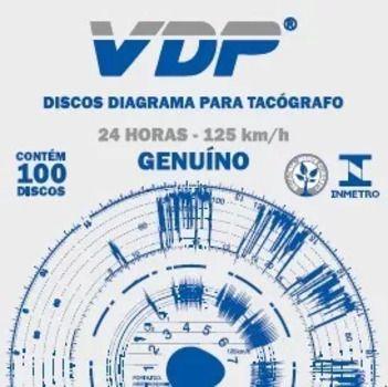 Disco Diagrama Tacógrafo Diário 125 Km Vdp - 60 peças