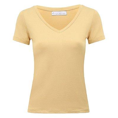 T-Shirt Gola V Modal Mostarda