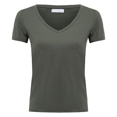 T-Shirt Gola V Modal Oliva