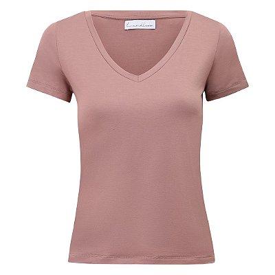 T-Shirt Modal Canela Gola V