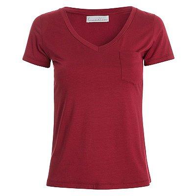 T-Shirt Modal Scarlet Bolso