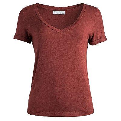 T-Shirt Terracota Linho