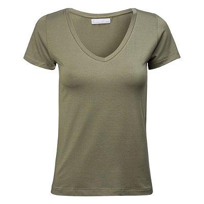 T-Shirt Gola V Modal Verde Militar