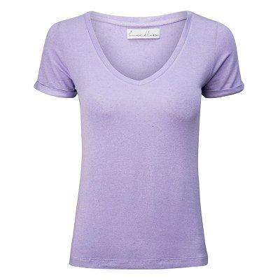 T-Shirt Linho Lilás