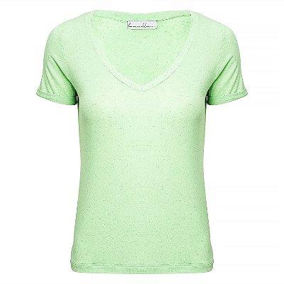 T-Shirt Linho Menta Neon