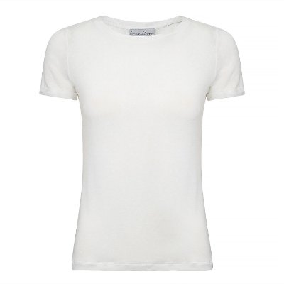 TShirt Essential Linho Branco Gola C