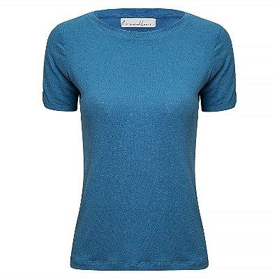 TShirt Essential Linho Blue Jeans Gola C