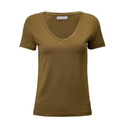 T-Shirt Gola V Modal Verde Folha
