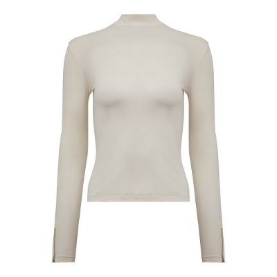 Turtleneck Manga Longa Off White