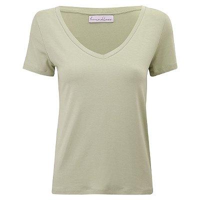 T-Shirt Modal Gola V Avocado