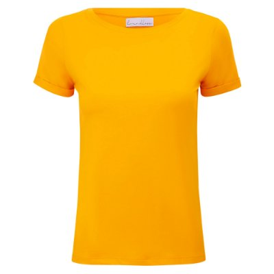T-Shirt Modal Gola C Amarelo Solar