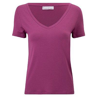 T-Shirt Gola V Modal Fúcsia