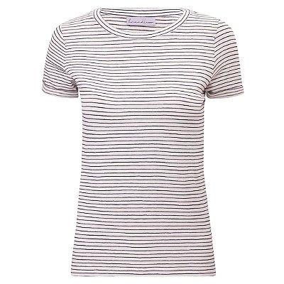 T-Shirt Gola C Listras Linho Marinho & Off White