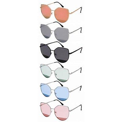 Óculos Feminino Metal Flat Lens