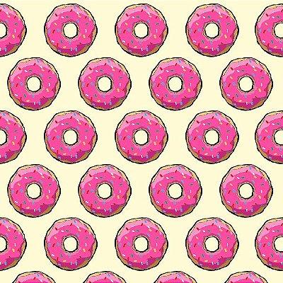 """Papel de Parede Adesivo """"Cream Donuts"""""""
