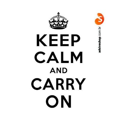 "Adesivo ""Keep Calm and Carry On"""