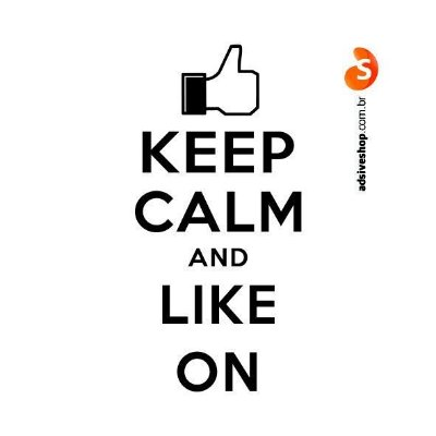 "Adesivo ""Keep Calm and Like On"""