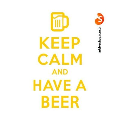 "Adesivo ""Keep Calm and Have a Beer"""