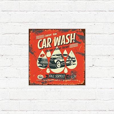 """Placa Decorativa """"Car Wash"""""""