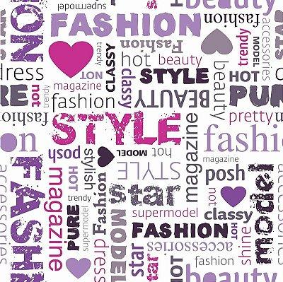 """Papel de Parede Adesivo """"Fashion Style"""""""