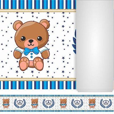 "Faixa Decorativa Adesiva ""Ursinho Azul"""