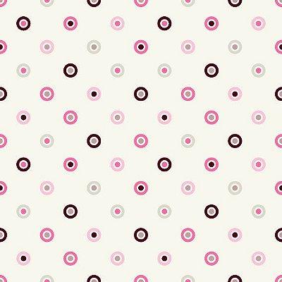 """Papel de Parede Adesivo """"Colorful Circles"""""""