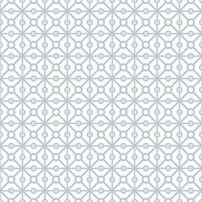 "Papel de Parede Adesivo ""Geometric Blue"""