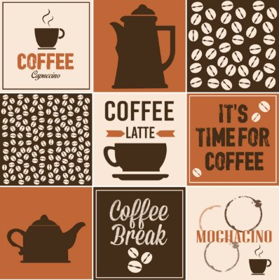 """Adesivo Azulejo """"Coffee"""""""