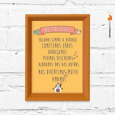 """Quadro Decorativo """"Nesta Casa II"""""""