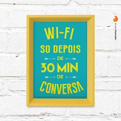 "Quadro Decorativo ""Wifi Conversa"""