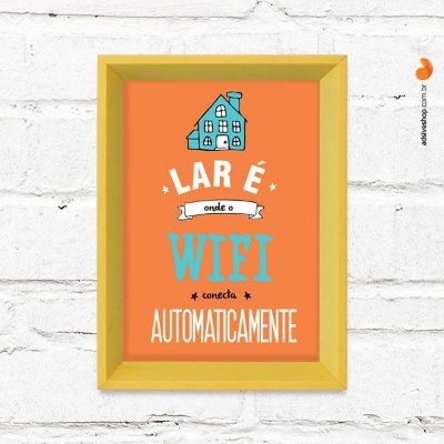 "Quadro Decorativo ""Wifi Lar"""